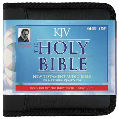 Front view - King James Audio Bible New Testament on CD read by Alexander Scourby voice only