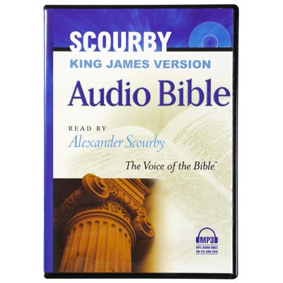 Front view - King James Bible for MP3, Android, iPhone & iPad by Alexander Scourby