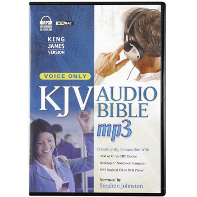 Front view - King James Audio Bible for iPod and MP3 by Stephen Johnston voice only