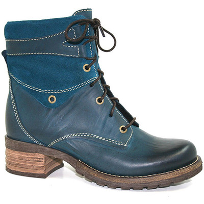 Dromedaris - Kara Boot - Teal Leather/Suede