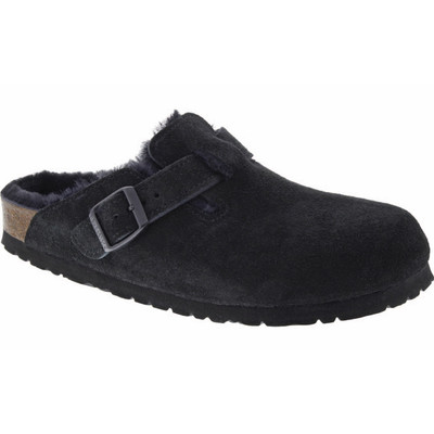 Birkenstock - Boston Clog - Black Suede - Shearling Lined
