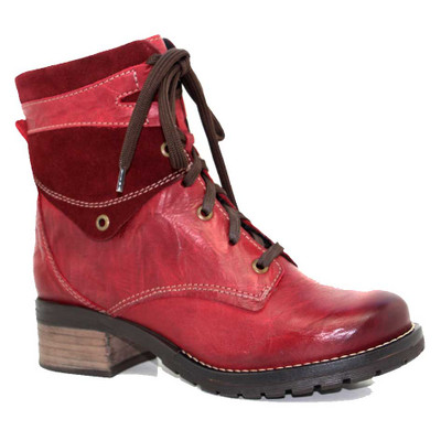 Dromedaris - Kara Boot - Red Leather/Suede