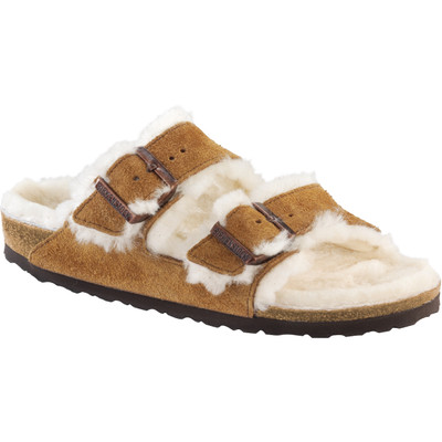 Birkenstock - Arizona Sandal - Shearling Lined - Mink-Natural Suede