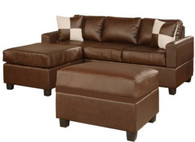 APOLLO BROWN Sectional with Ottoman