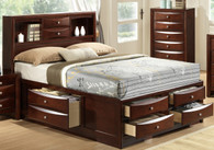 Emily Bookcase Storage Queen Size Bed