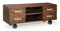 98198 Oaktown Low Console Distressed Walnut 816226027871 Bedroom Modern Distressed Walnut Low Console by  Zuo Modern Kassa Mall Houston, Texas Best Design Furniture Store Serving Houston, The Woodlands, Katy, Sugar Land, Humble, Spring Branch and Conroe