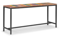98311 Brookdale Table Multicolor Distressed Natural 816226027291 Tables Modern Multicolor Distressed Natural Table by  Zuo Modern Kassa Mall Houston, Texas Best Design Furniture Store Serving Houston, The Woodlands, Katy, Sugar Land, Humble, Spring Branch and Conroe
