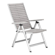 703219 Urban Reclining Chair Gray 816226025808 Brush Aluminum Modern Gray Reclining Chair by  Zuo Modern Kassa Mall Houston, Texas Best Design Furniture Store Serving Houston, The Woodlands, Katy, Sugar Land, Humble, Spring Branch and Conroe