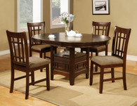 Empire Dining Table Top with 4 Side Chairs