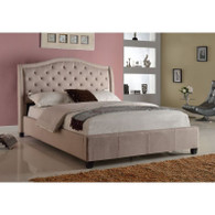 Addison Upholstered Queen Bed with Tufted Headboard - 5262-Q