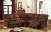 Padded Embossed Microfiber Fabric Recliner Set