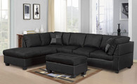 MODERN BLACK SECTIONAL SET