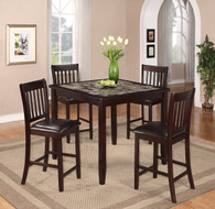 CASCADE COUNTER HEIGHT DINING TABLE TOP 5 Piece Set