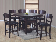 CONNER COUNTER HEIGHT DINING TABLE TOP 5 Piece Set