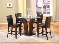 CAMELIA COUNTER HEIGHT DINING TABLE TOP 5 Piece Set Espresso