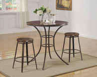 Kylie 3-PK Counter Height Table with Swivel Stool