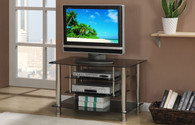 Black Silver Frame TV Stand