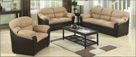 Saddle Brown Living Room Set