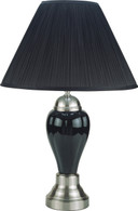 Porcelain Lamp Stain Nickel Base - Black - 6115-BK