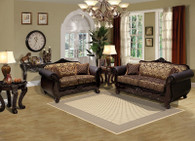 Isabella Brown 2PCs Living Room Set (Sofa and Loveseat)