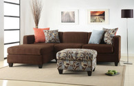 2-PCS SECTIONAL SOFA MICROFIBER CHOCOLATE