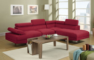 2-PCS SECTIONAL SOFA IN BLENDED LINEN RED