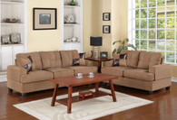 2-PCS SOFA SET W/3 ACCENT PILLOWS-SADDLE