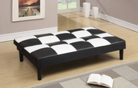 ADJUSTABLE SOFA IN BLACK  WHITE CHECKER