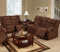 ROCKER RECLINER 2PC SOFA AND LOVESEAT MICROFIBER-CHOCOLATE