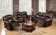 3PCS  SET RECLINER /BONDED LEATHER-ESPRESSO
