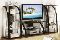 TV STAND BLACK WOOD