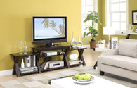 TV STAND W/SIDE SHELF-BLACK