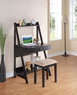 WRITING DESK W/STOOL SET in ANTIQUE BLACK