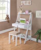 WRITING DESK W/STOOL  2-PCS SET in WHITE