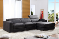 MODERN GRAY ULTRA SUADE SECTIONAL