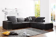 AVALOX MODERN SECTIONAL GRAY (ULTRA SUADE)