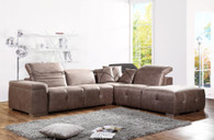 AVALOX MODERN SECTIONAL BROWN (ULTRA SUADE)