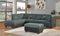 Sectional Sofa Dark Slate Gray
