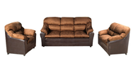 Modern Golden Sofa, Chair, LoveSeat (3-Piece Set)