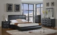 Black Modern Platform Bed