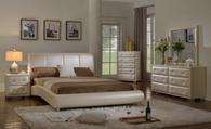 White (Pearl) Modern Platform Bed