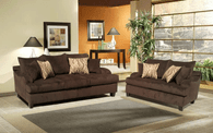 Elizabeth 2 Pcs Set Sofa and Loveseat Joy Ride Chocolate