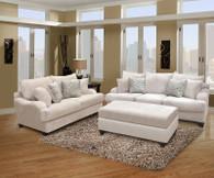 Elizabeth 2 Pcs Set Sofa and Loveseat Fabric Oyster