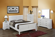 Louis Phillip 7Pcs Bedroom Suite - White