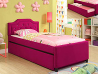 PINK AMELIA TWIN TRUNDLE BED