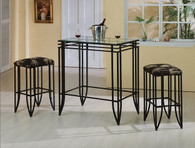 MATRIX BAR & 2 STOOLS TOP 3 Piece Set - 1177SET