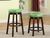 WENDY PUB OR BAR STOOL IN GREEN (SET OF 2)