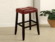 KENT SADDLE CHAIR RED PUB OR BAR STOOL  (SET OF 2)