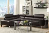 2PC SECTIONAL SET ESPRESSO
