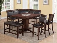 """HARRISON 6PC COUNTER HEIGHT TABLE  W/22""""LAZY SUSAN"""
